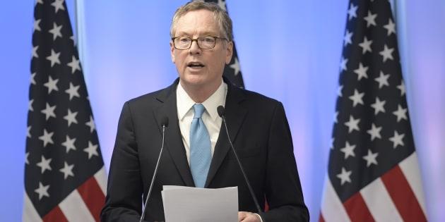 El representante de Comercio de Estados Unidos, Robert Lighthizer.