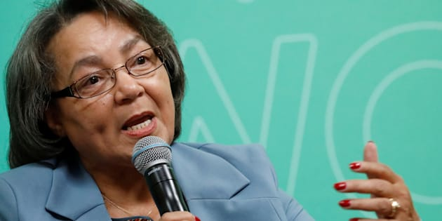 Cape Town mayor Patricia de Lille speaks during the C40 Cities Women4Climate event in New York City, March 15, 2017.