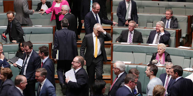 Malcolm Turnbull is not having a great day, with this photo coming after his government lost a vote 69-61.