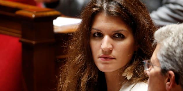 Marlène Schiappa lors des questions au gouvernement à l'Assemblée nationale le 12 juillet.