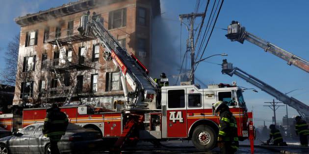 USA:12 blessés dans un incendie à New York