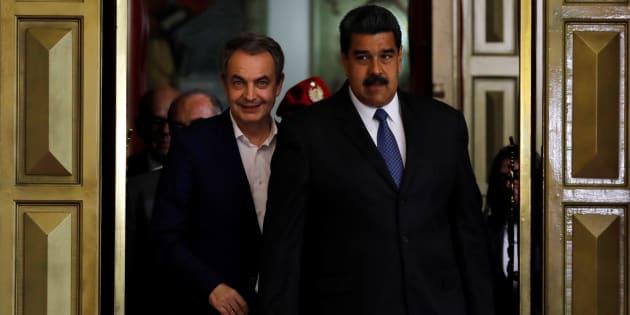 Imagen de Archivo de José Luis Rodríguez Zapatero y Nicolás Maduro durante un encuentro en Caracas.