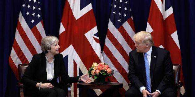 Theresa May et Donald Trump, le 26 septembre 2018 à New-York.