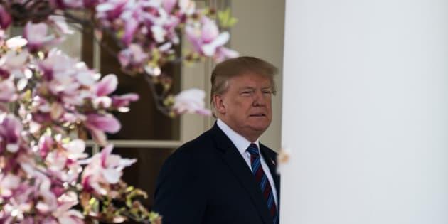 Donald Trump à Washington le 12 avril 2018.