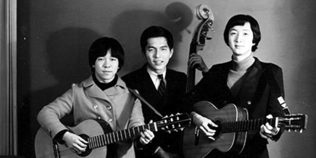 左からはしだのりひこさん、北山修さん、加藤和彦さん