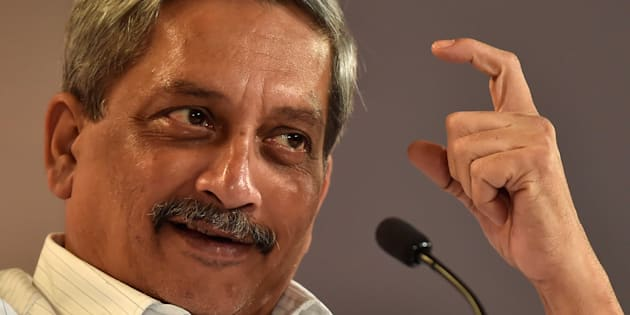 Union Minister of Defence Manohar Parrikar in conversation with Nitin Gokhale, National Security Analyst, during the Hindustan Times Leadership Summit 2016.