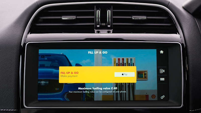With a new Jaguar and the Shell app, your car can pay for its own gas