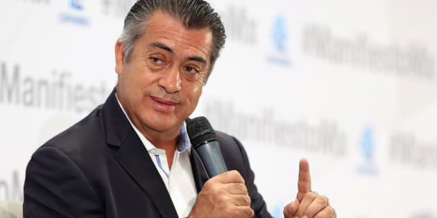 El candidato presidencial independiente Jaime Rodríguez Calderón durante un evento organizado por la Coparmex en Ciudad de México el 17 de mayo de 2018.