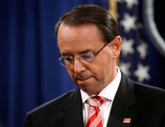 Trump, Deputy AG Rosenstein to meet Thursday