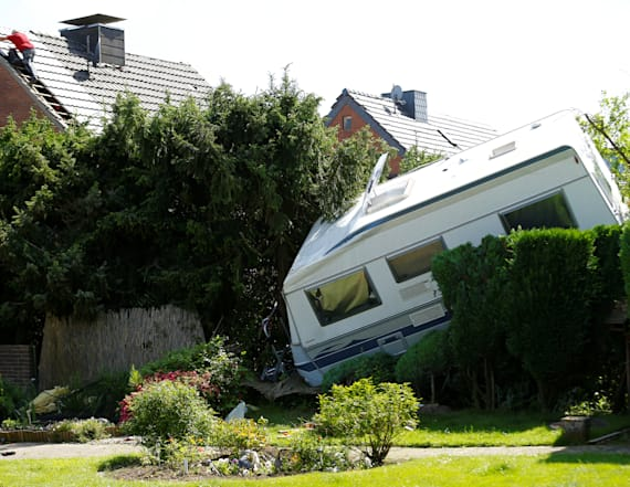 Rare tornado leaves trail of destruction in Germany