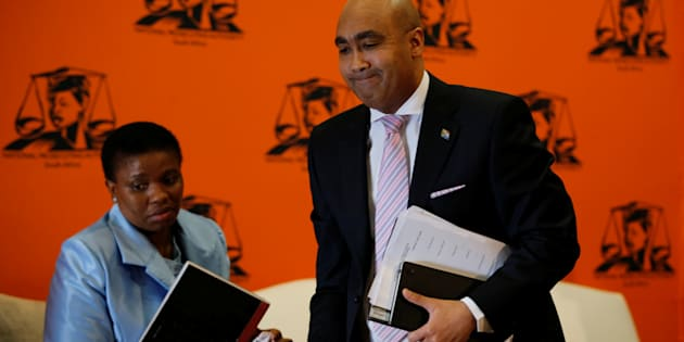 National Director of Public Prosecutions Shaun Abrahams (R) and his deputy, Nomgcobo Jiba.
