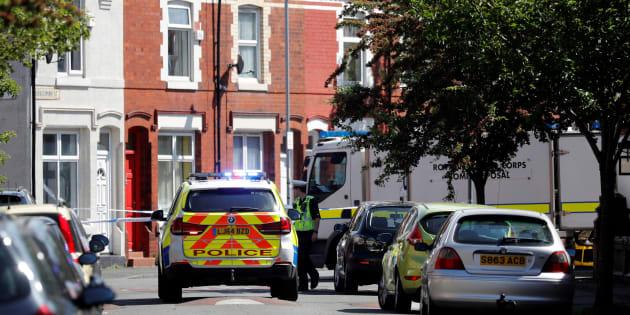 Une voiture de police dans une rue de Manchester le 27 mai 2017.