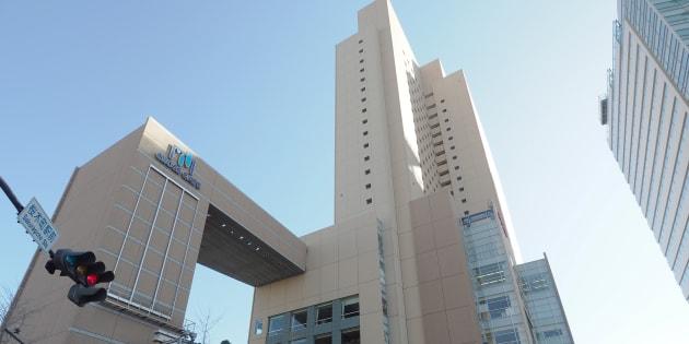 突然閉店した振り袖の販売・レンタルや着付けを手掛ける「はれのひ」の実質上の本社が入っていた商業施設=10日、横浜市桜木町