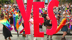 The LGBTQ Community Celebrate The YES Result Around The