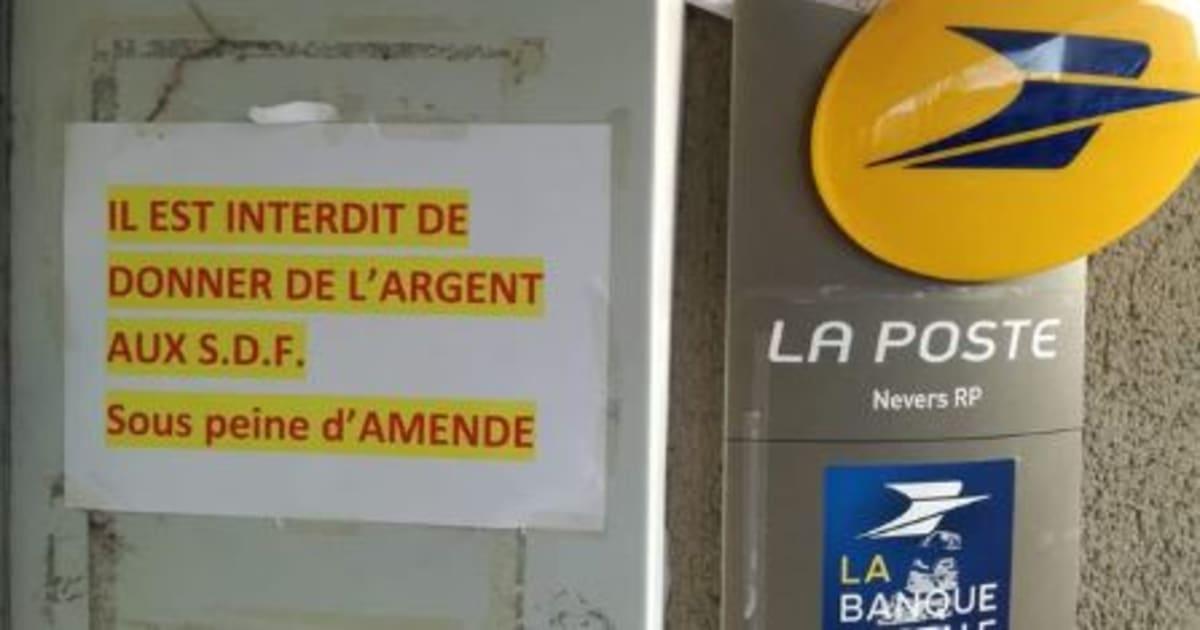 Nevers: La Poste s'explique après un message interdisant à ses clients de donner de l'argent aux SDF