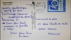 Elle envoie une carte postale aux policiers pour les remercier d'avoir été le point de départ d'une belle