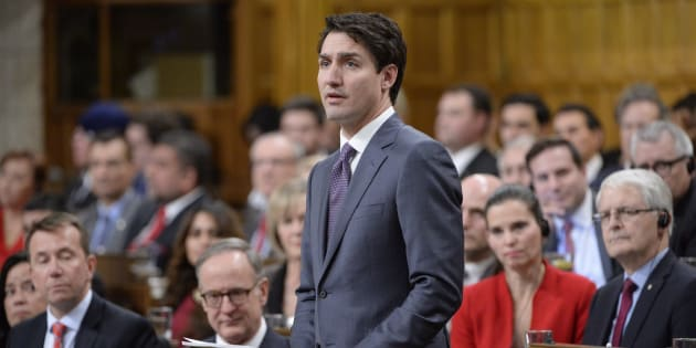 Prime Minister Justin Trudeau makes a formal apology to individuals harmed by federal legislation, policies, and practices that led to the oppression of and discrimination against LGBTQ2 people in Canada, in the House of Commons in Ottawa on Tuesday.