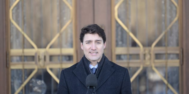 Prime Minister Justin Trudeau addresses the media following a swearing in ceremony at Rideau Hall in Ottawa on Jan. 14, 2019.