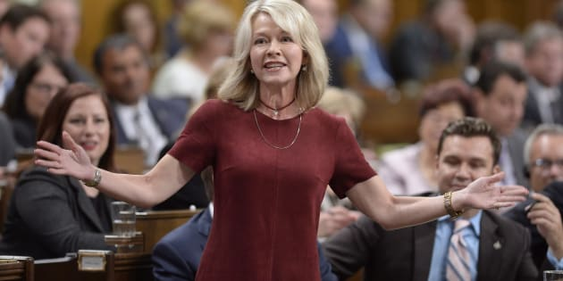 Conservative MP Candice Bergen speaks in the House of Commons on Sept.27, 2017.