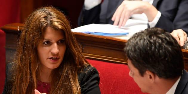 Marlène Schiappa à l'Assemblée nationale le 16 mai 2018.