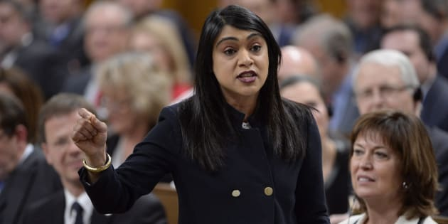 Government House Leader Bardish Chagger speaks in the House of Commons on Jan. 31, 2018.