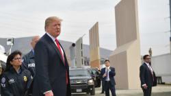 Muro y protestas: así fue la visita de Donald Trump en San