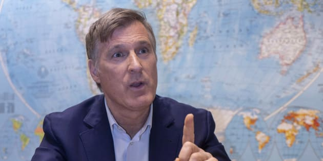 Maxime Bernier during an interview with The Canadian Press in Montreal on Dec. 14, 2018.