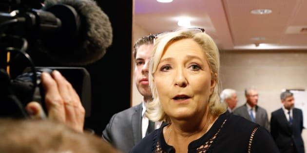 Marine Le Pen à Paris le 23 juillet 2018.