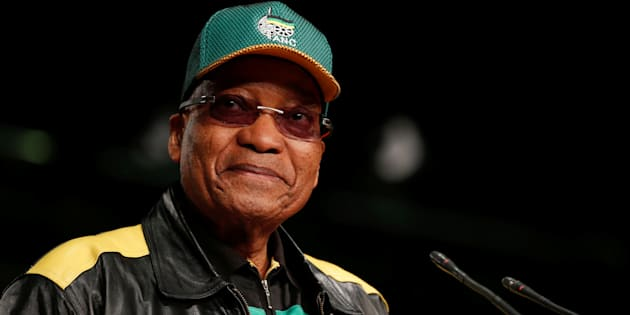 South Africa's President Jacob Zuma looks on as he officially opens the African National Congress 5th National Policy Conference at the Nasrec Expo Centre in Soweto, South Africa, June 30, 2017.