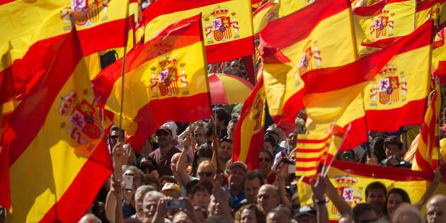 Imagen de archivo de una movilización organizada por Societat Civil Catalana.