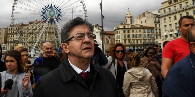 Jean-Luc Mélenchon à Marseille le 11 mai 2017.