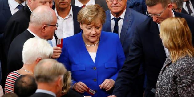 """Angela Merkel a voté """"non"""" au mariage pour tous (même si le vote s'est fait à son initiative)"""