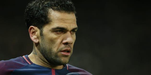 Dani Alves sous le maillot du PSG.