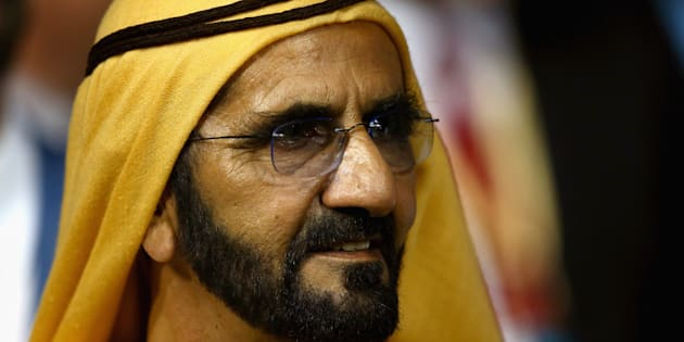 Sheikh Mohammed at the Dubai World Cup this year, the only race meeting in the world where you can't bet. True story.