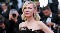 À Cannes, Cate Blanchett envoûte le tapis rouge tout en