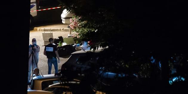 La police criminelle sur les lieux d'une scène de crime à Marseille, le 25 juin 2016.