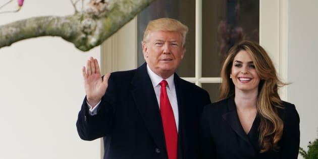 """Hope Hicks, l'ancienne """"dircom"""" de Trump et de la Maison Blanche recrutée par Fox News."""