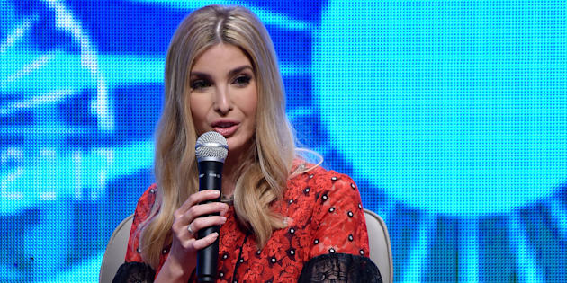 HYDERABAD, INDIA - NOVEMBER 29: Advisor to the U.S. President and head of the United States delegation Ivanka Trump speaks during a quiz with emerging enterpreneurs on the second day of the 8th annual Global Entrepreneurship Summit (GES) in Hyderabad, India on November 29, 2017.