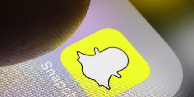 Illustration de l'application Snapchat le 14 février 2018 à Berlin en Allemagne.