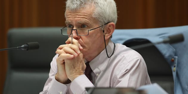 Senator Malcolm Roberts during a Senate hearing at Parliament House in Canberra on Friday 27 October 2017, just ahead of the high court ruling.