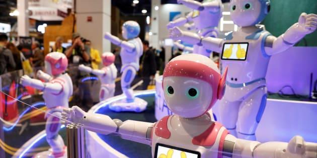 """Le robot """"iPal"""" lors de sa présentation au CES de Las Vegas en janvier 2018."""