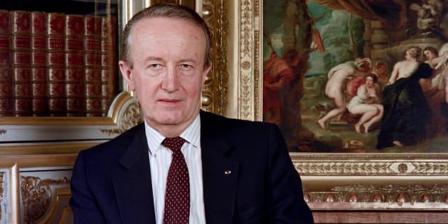 Pierre Arpaillange en 1988, alors ministre de la Justice