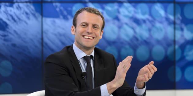 Emmanuel Macron lors de son premier et unique passage à Davos en janvier 2016, lorsqu'il était encore ministre de l'Economie.