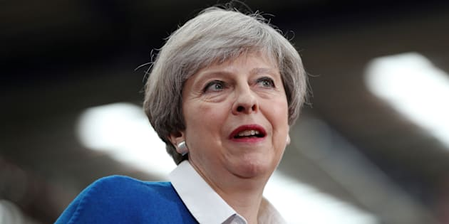 Theresa May à Stoke le 16 mai 2017.