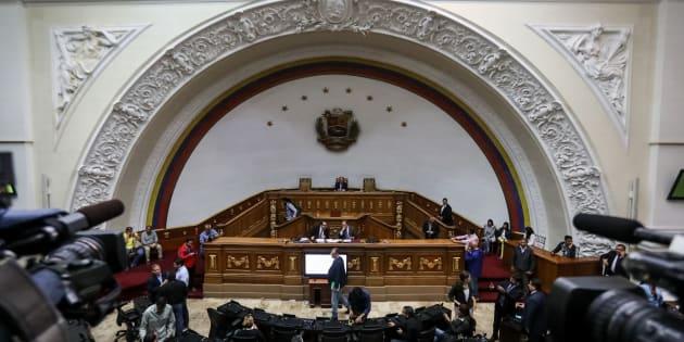 Vista general de una sesión especial de la Asamblea Nacional venezolana en el hemiciclo de sesiones, este miércoles.