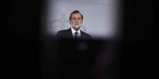 Le Premier ministre espagnol Mariano Rajoy en conférence de presse le 1er octobre.