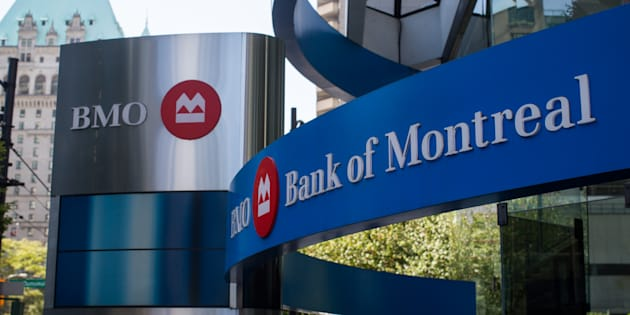 Bank of Montreal signage outside a branch in Vancouver, B.C., Fri. Aug. 25 2017. The bank has cut its rate for five-year variable mortgages to 2.45 per cent.