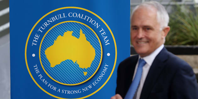 Malcolm Turnbull's new banners and logo