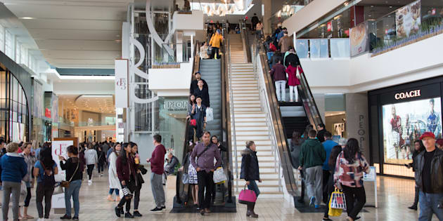 Shoppers at Toronto's Yorkdale mall, which will see the addition of residential units under a planned revamp.