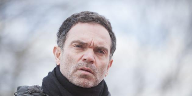Yann Moix à Calais le 5 mars 2018.
